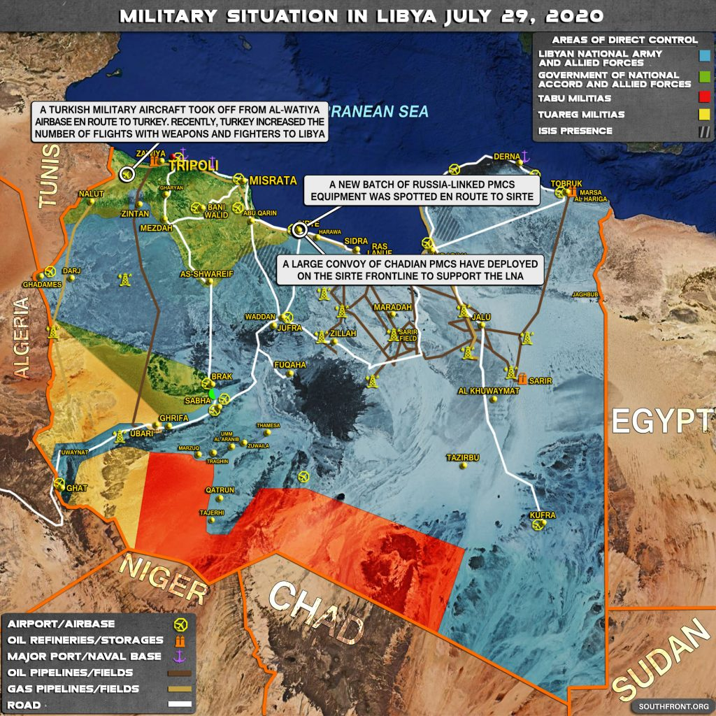 Military Situation In Libya On July 29, 2020 (Map Update)