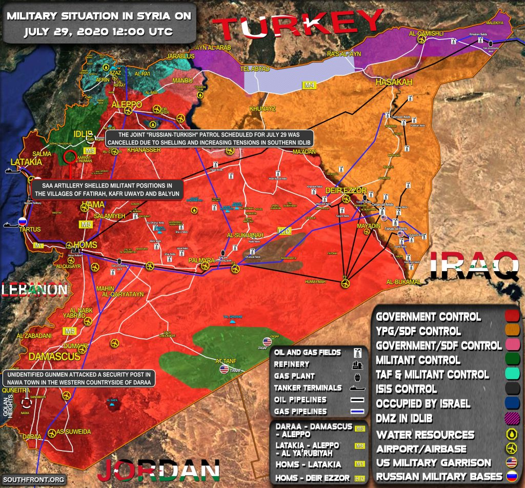 Military Situation In Syria On July 29, 2020 (Map Update)