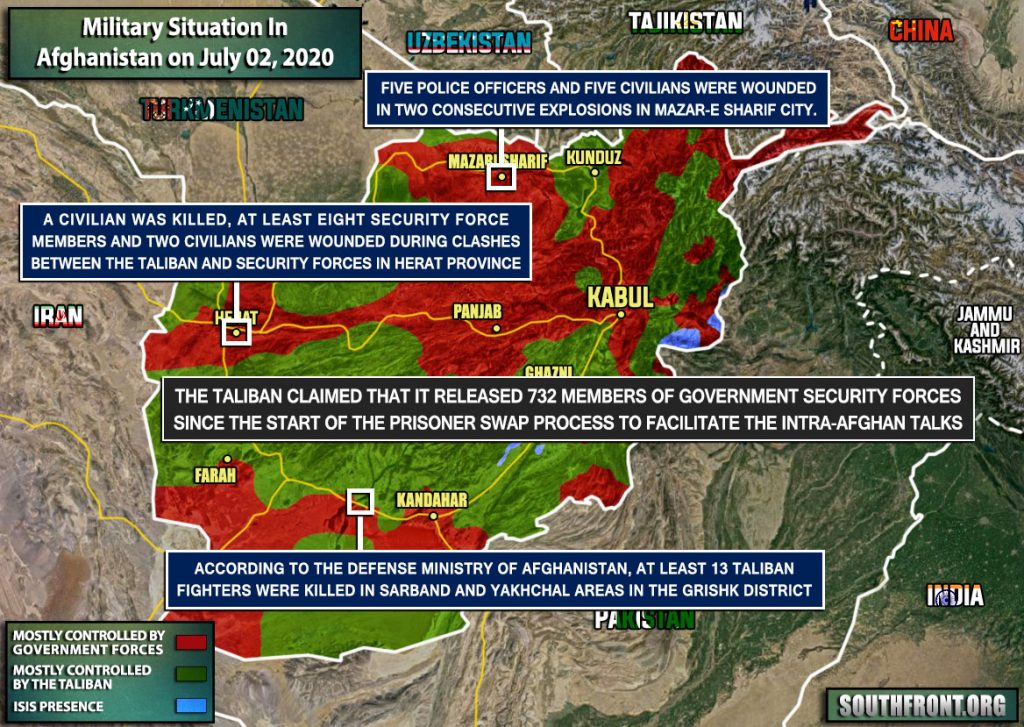 Military Situation In Afghanistan On July 2, 2020 (Map Update)