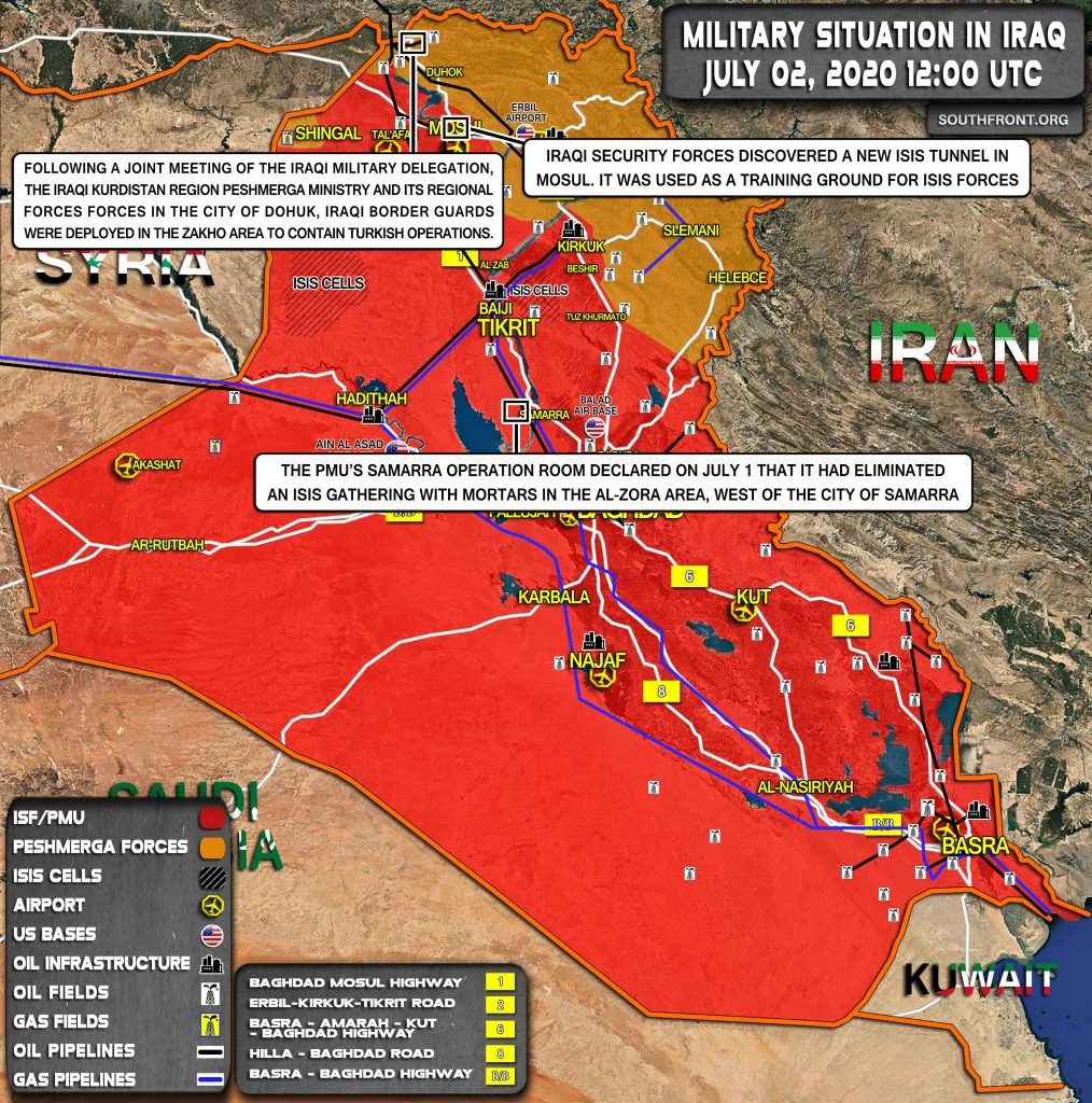 Military Situation In Iraq On July 2, 2020 (Map Update)