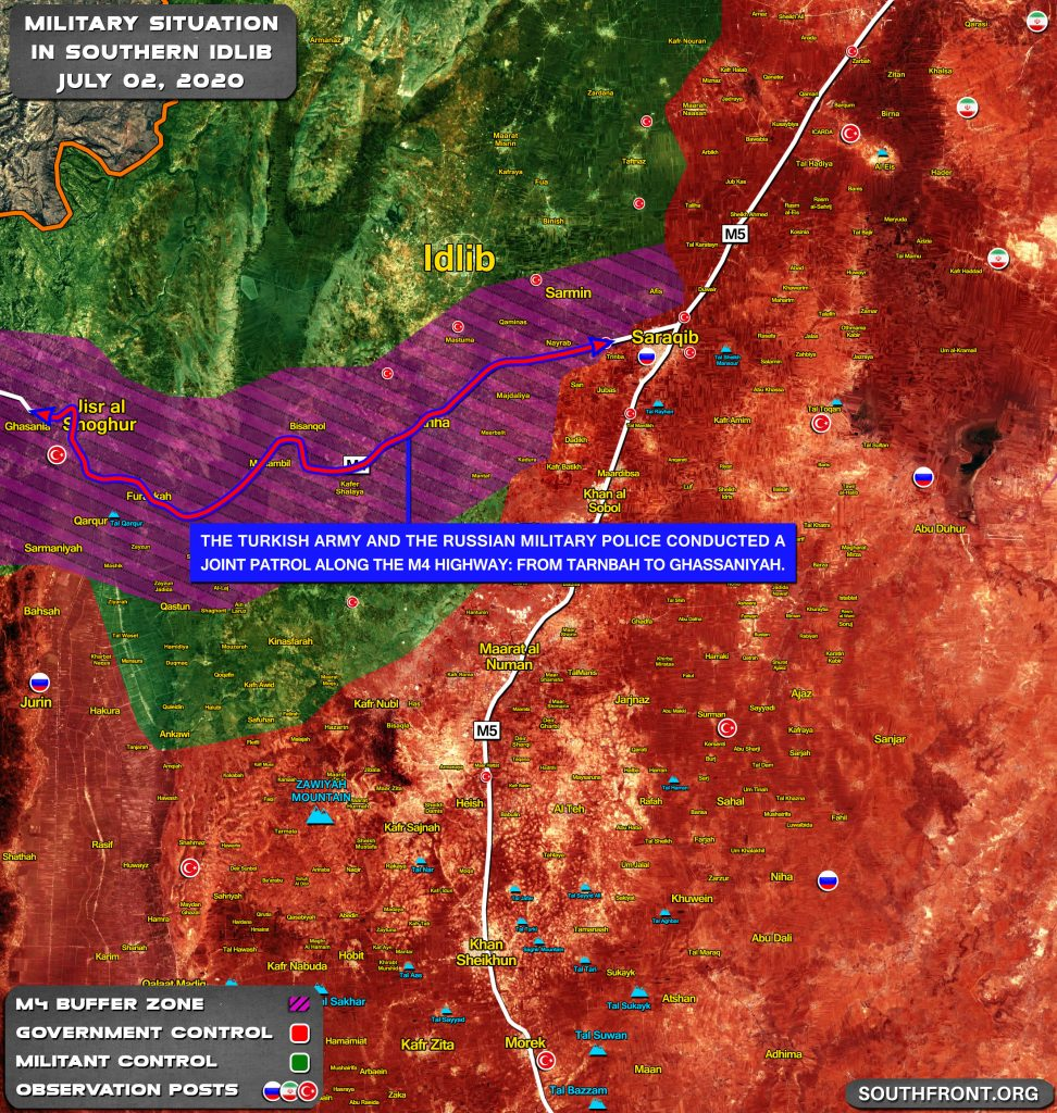 Map Update: Joint Russian-Turkish Patrol Reached Jisr Al-Shughur In Southern Idlib For First Time