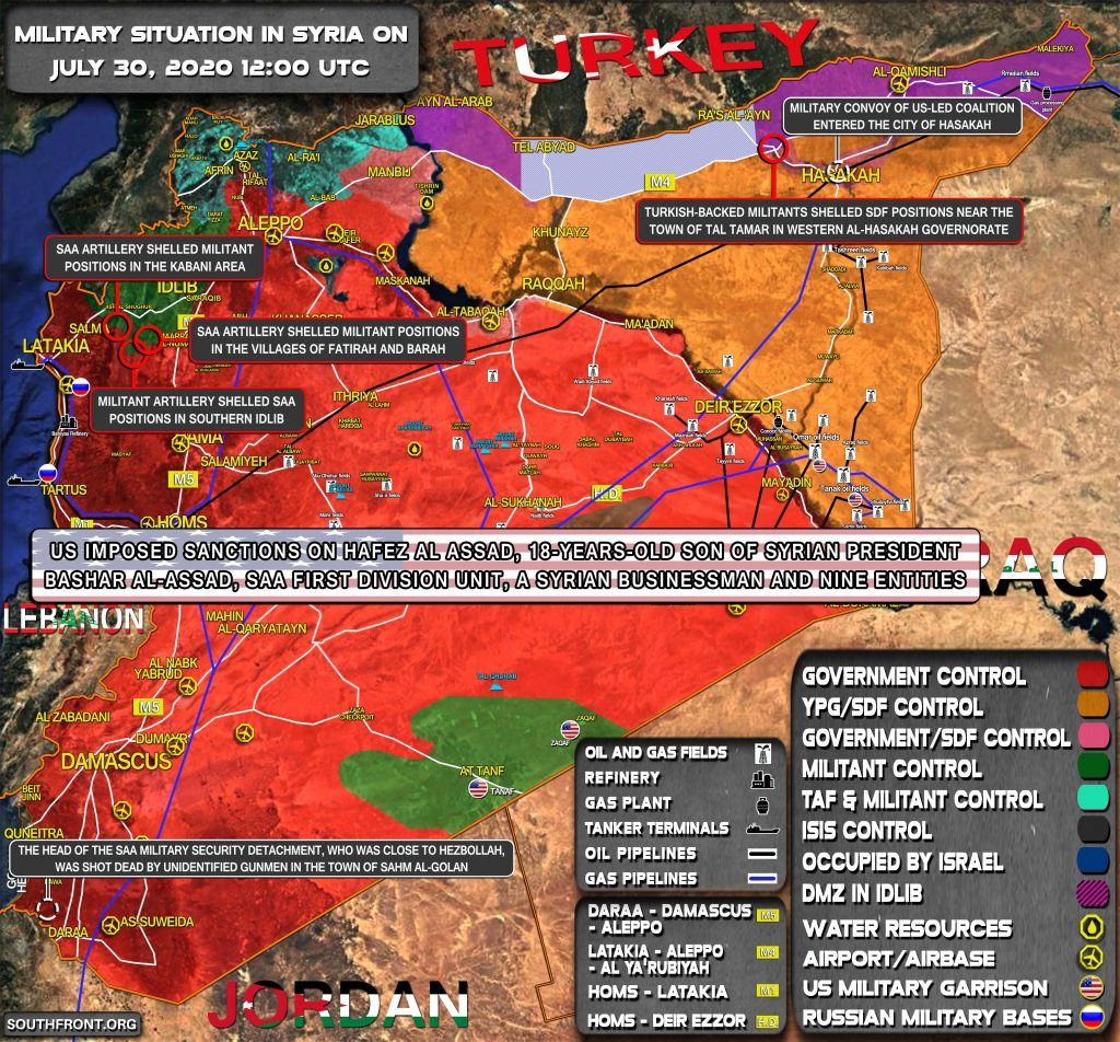 Military Situation In Syria On July 30, 2020 (Map Update)