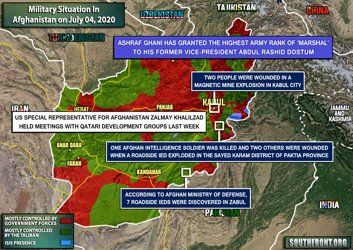 Military Situation In Afghanistan On July 4, 2020 (Map Update)