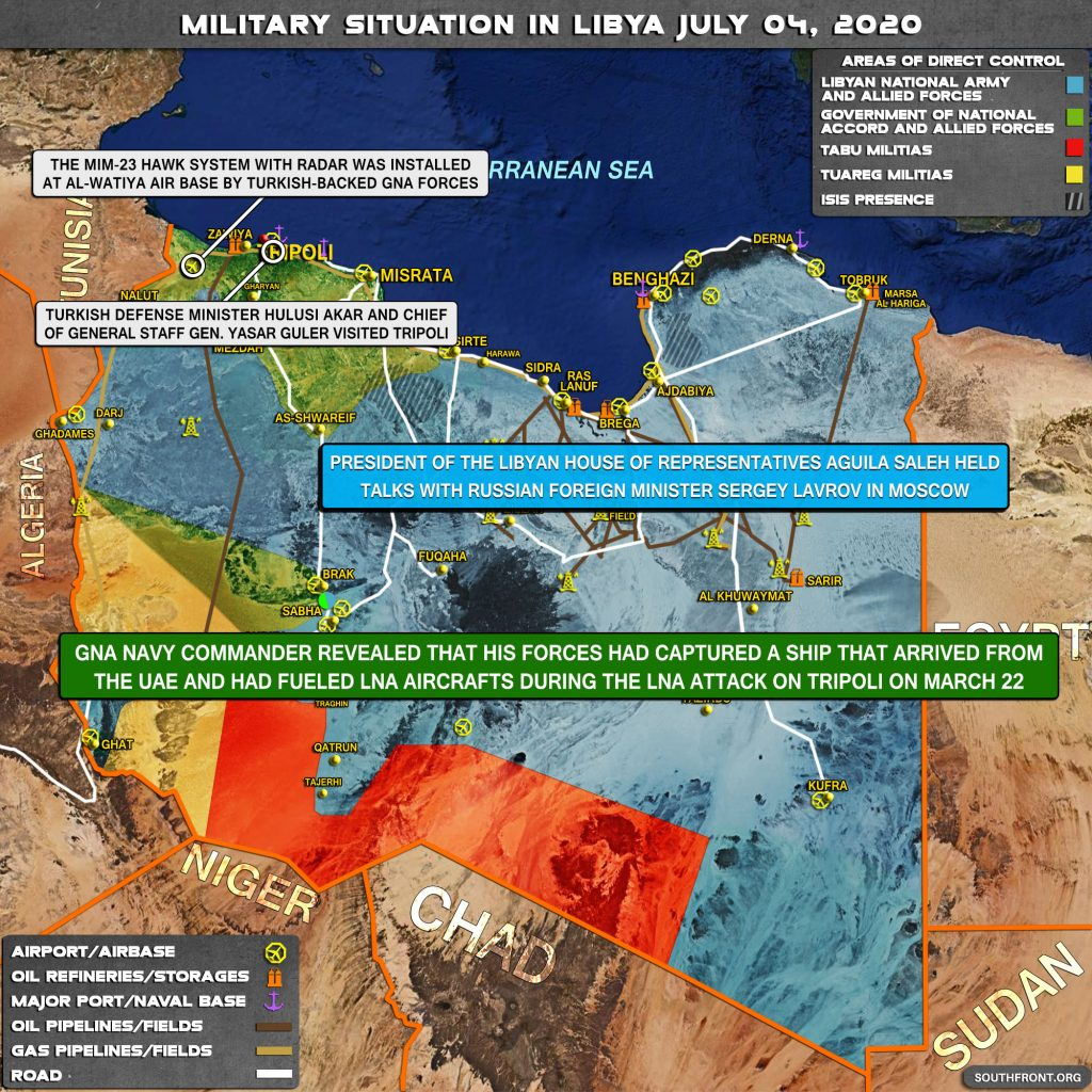 Military Situation In Libya On July 4, 2020 (Map Update)