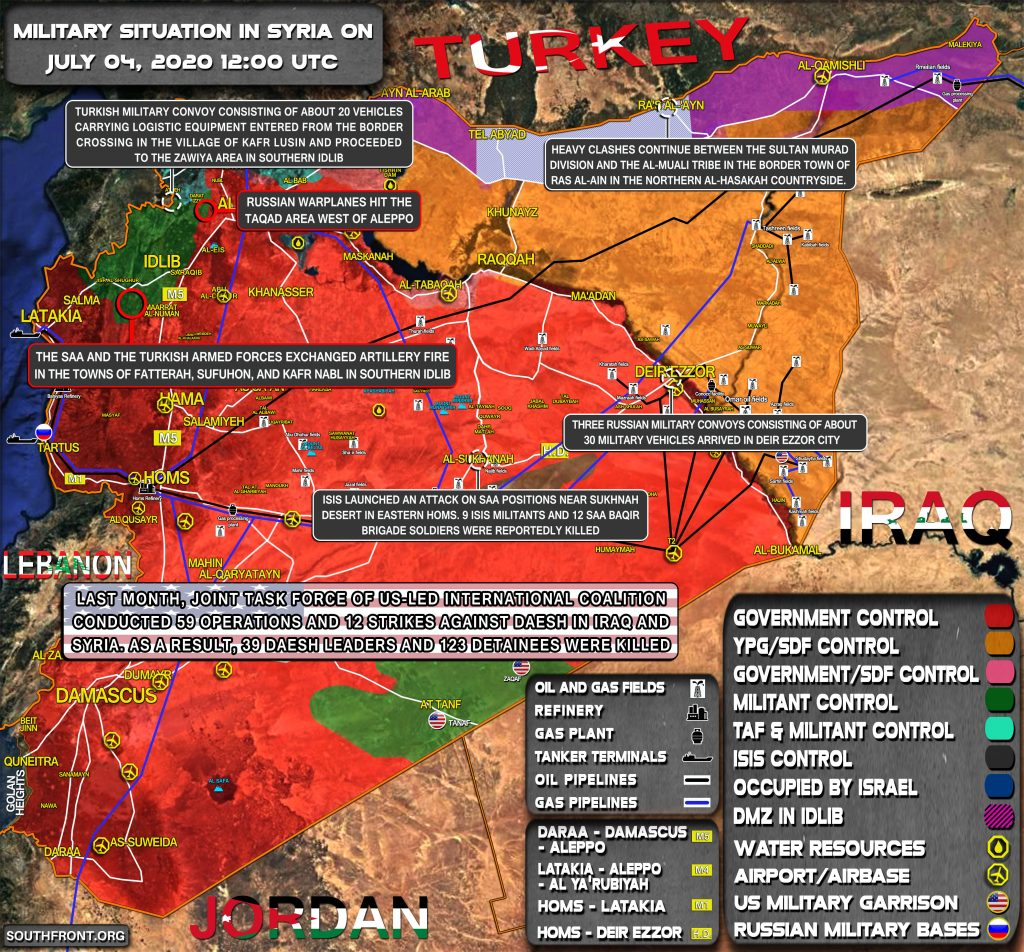 Military Situation In Syria On July 3, 2020 (Map Update)