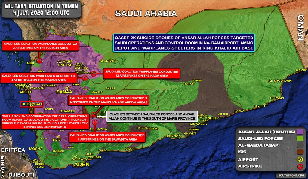 Military Situation In Yemen On July 4, 2020 (Map Update)