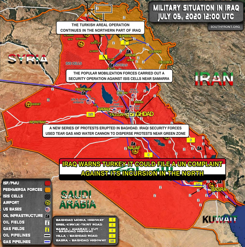 Military Situation In Iraq On July 5, 2020 (Map Update)
