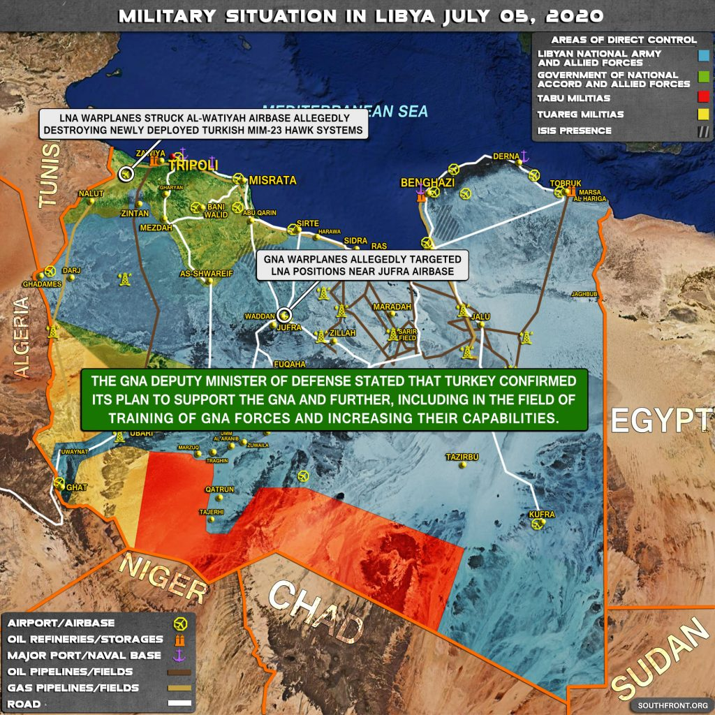 Military Situation In Libya On July 5, 2020 (Map Update)