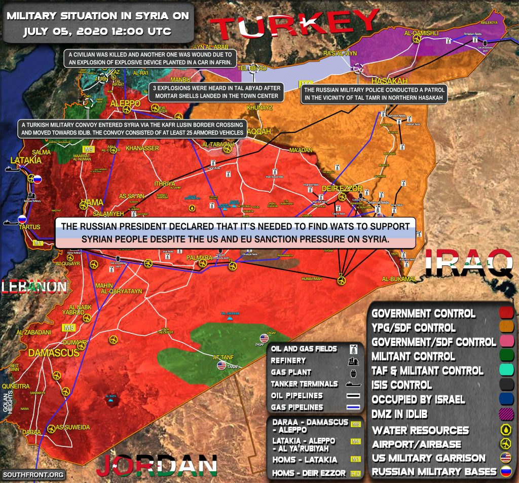 Military Situation In Syria On July 4, 2020 (Map Update)