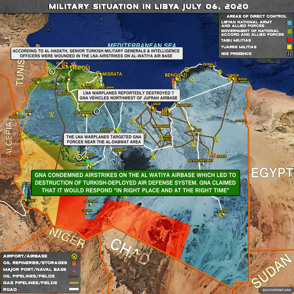 Military Situation In Libya On July 6, 2020 (Map Update)