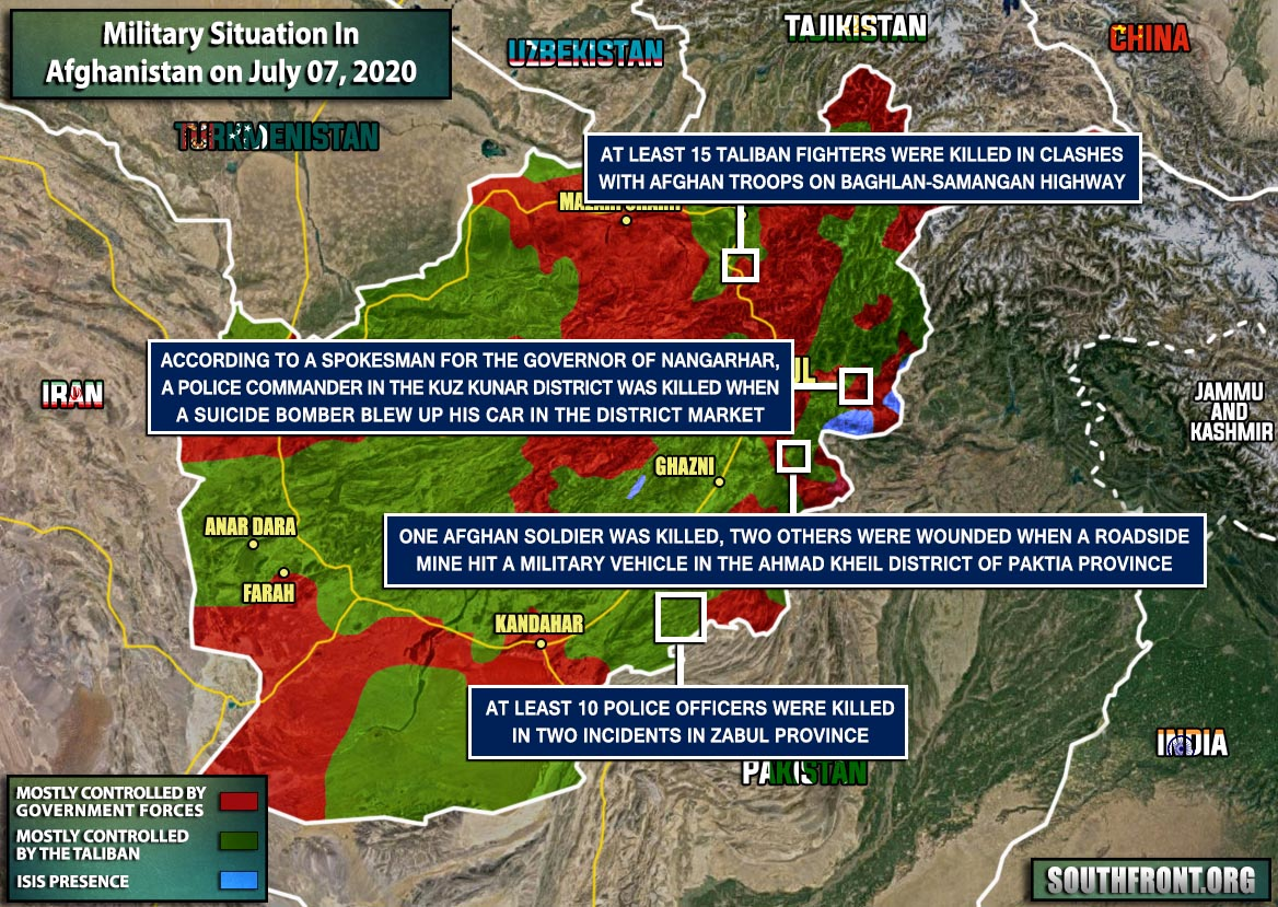 Military Situation In Afghanistan On July 7, 2020 (Map Update)