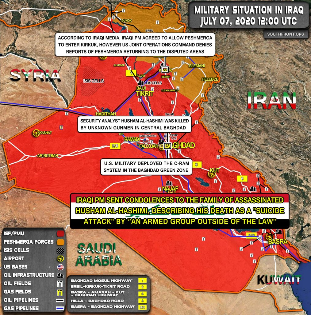 Military Situation In Iraq On July 7, 2020 (Map Update)