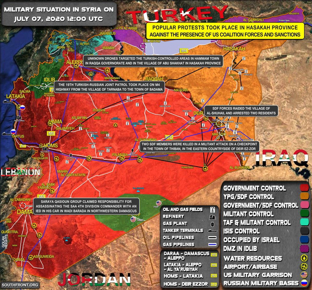 Military Situation In Syria On July 7, 2020 (Map Update)