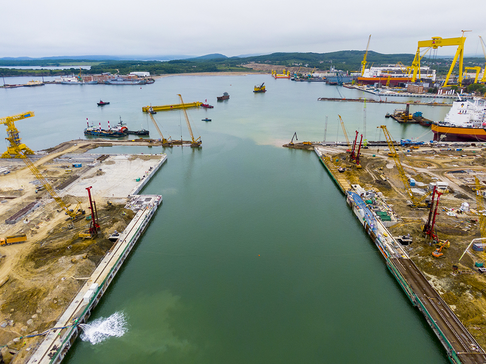 Russia Installs Upgrades On World's Largest Dry Dock