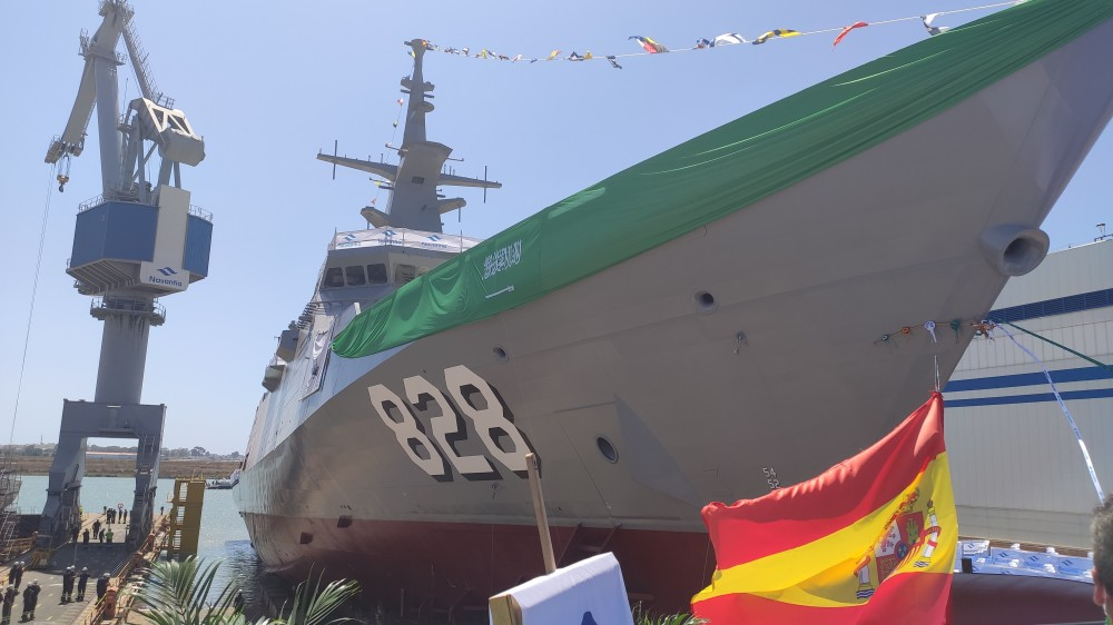 Spain Launches First Of Fire Corvettes For Saudi Arabia's Navy