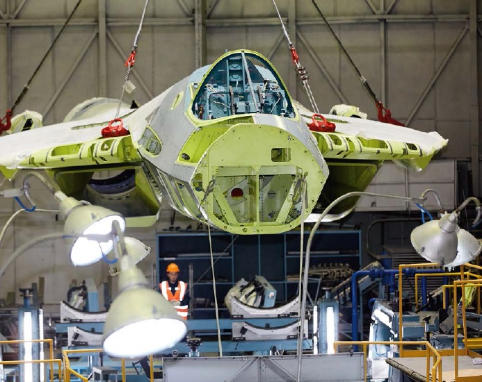 Russian Workshop Implementing System To Serially Produce 5th Gen Su-57 Fighter Jets