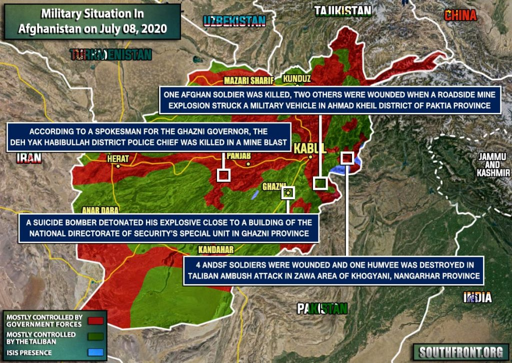 Military Situation In Afghanistan On July 8, 2020 (Map Update)