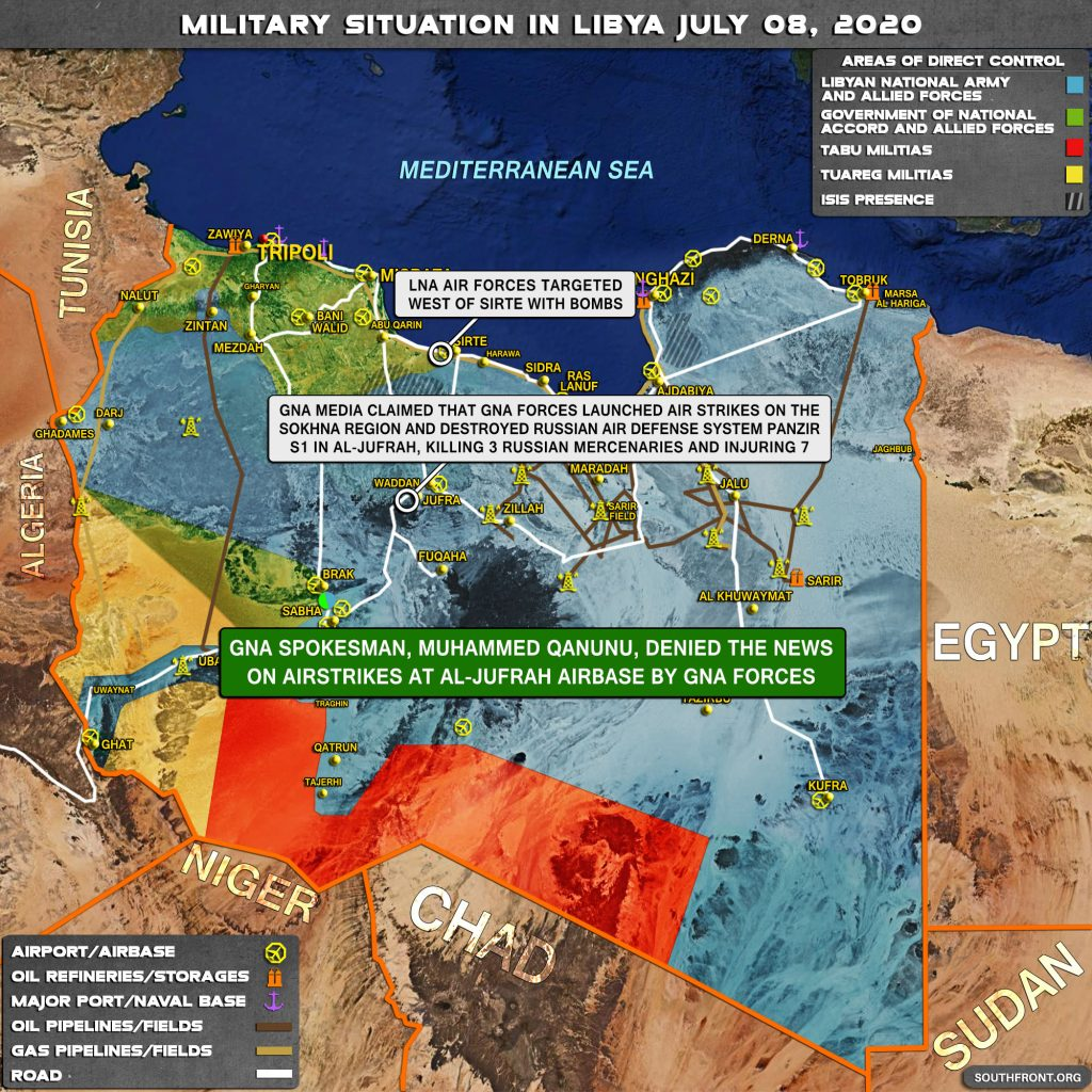 Military Situation In Libya On July 8, 2020 (Map Update)