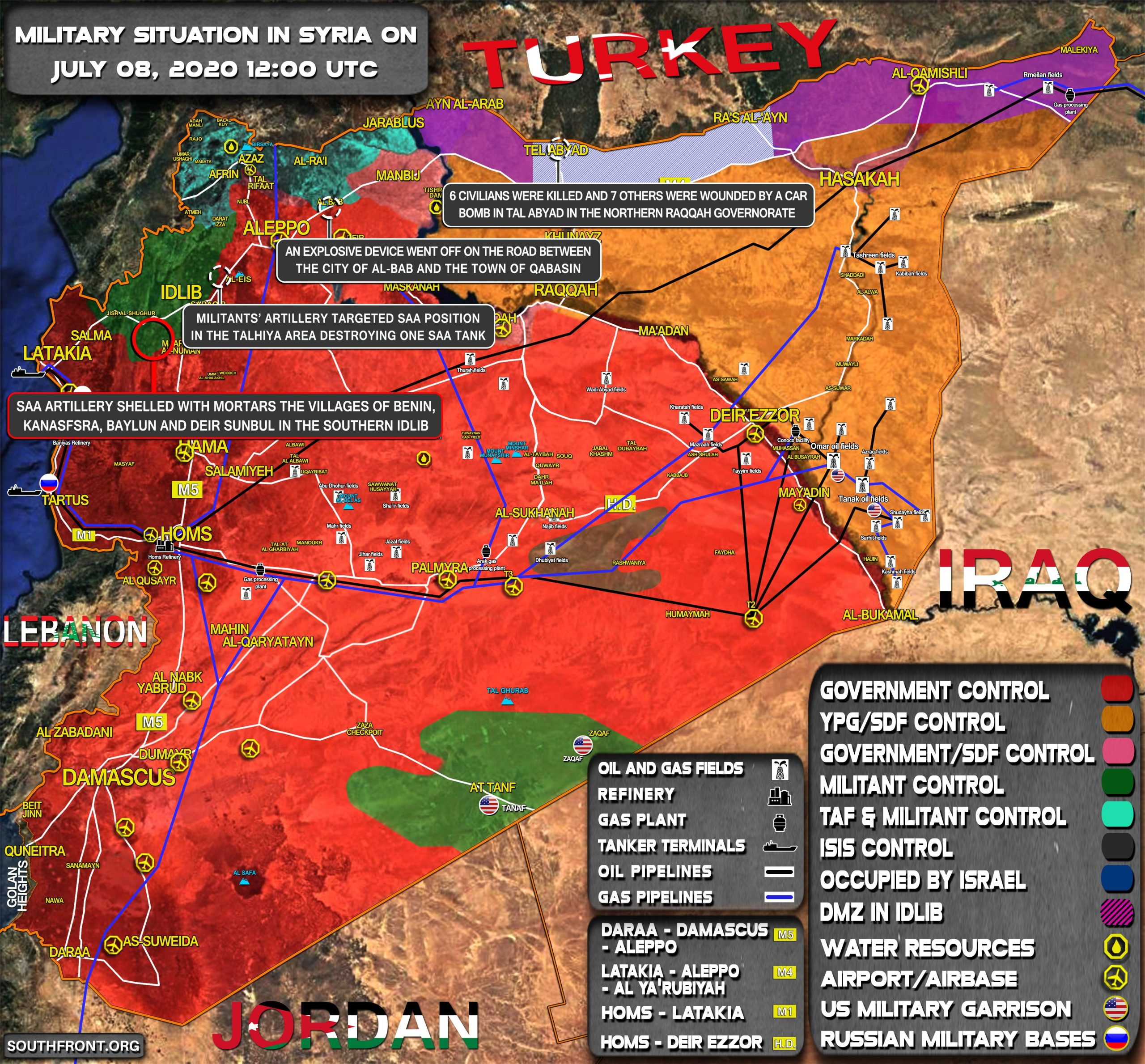 Military Situation In Syria On July 8, 2020 (Map Update)