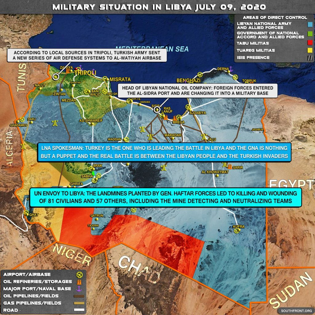 Military Situation In Libya On July 9, 2020 (Map Update)