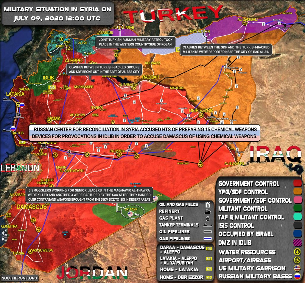 Military Situation In Syria On July 9, 2020 (Map Update)
