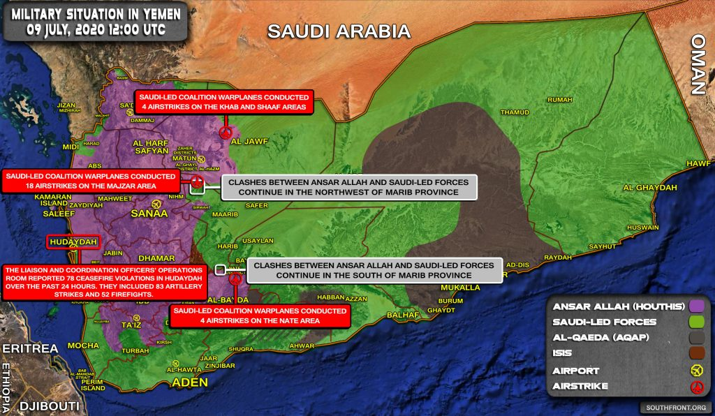 Military Situation In Yemen On July 9, 2020 (Map Update)