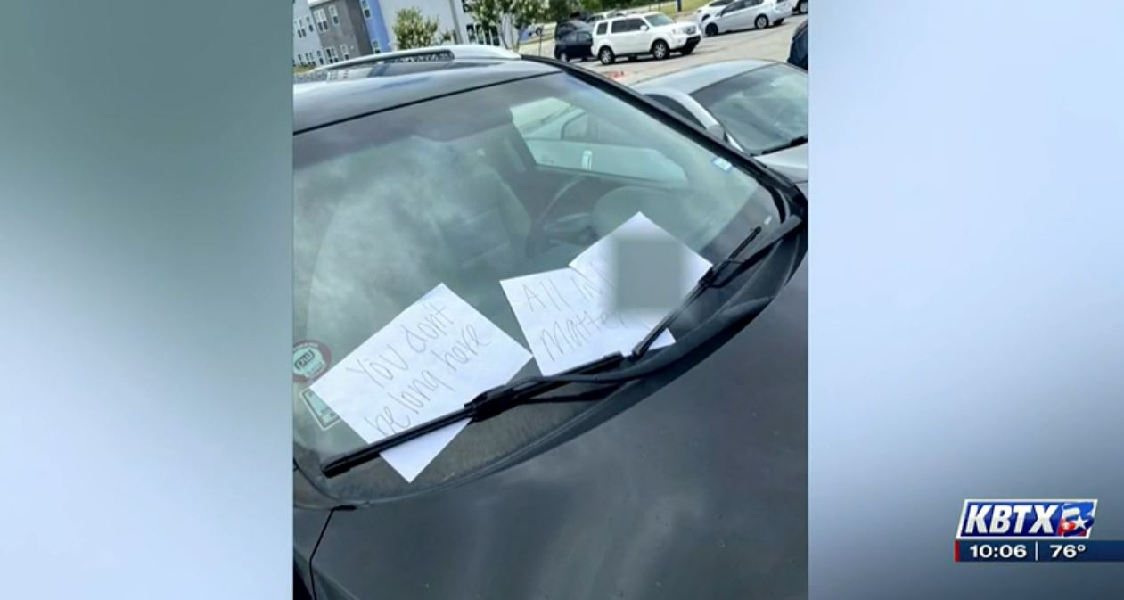 Texas University Student Plants Racist Notes On His Own Car: Faces No Consequence