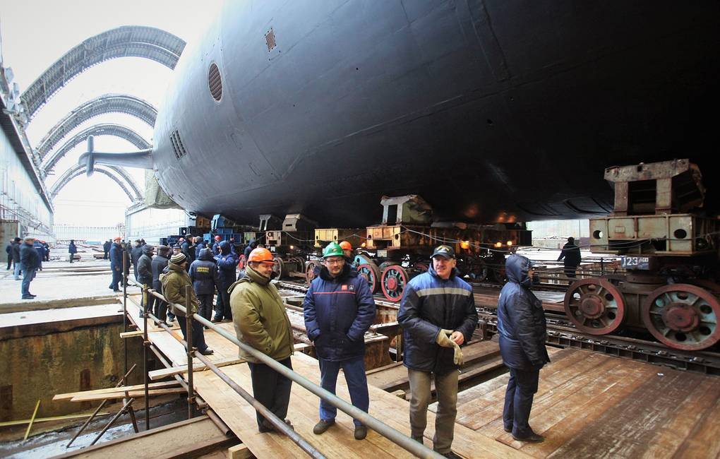 Russian Shipyard Floats Out First Serial Borei-A-Class Nuclear-Powered Submarine