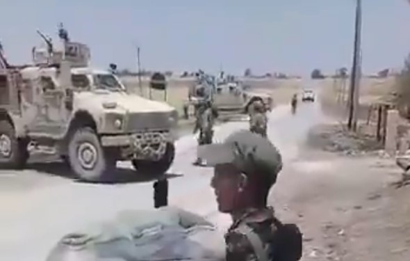 In Video: Syrian Army Once Again Blocked US MIlitary Convoy Near Tell Tamr