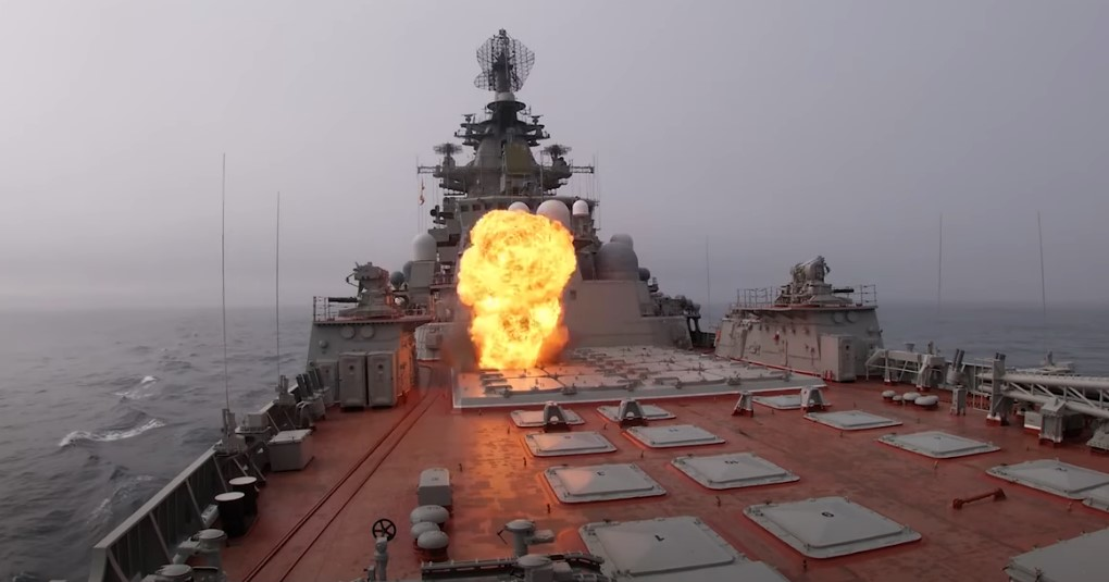 Russian Warships Launch Anti-Ship Missiles During Drills In Barents Sea (Video)