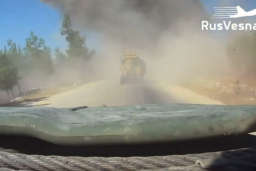 First Person Video Shows Moment Of Car Bomb Attack On Turkish-Russian Convoy In Syria's Idlib