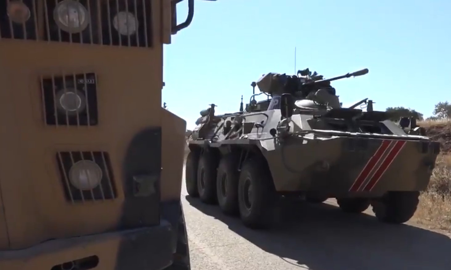 Turkish Army And Russian Military Police Hold 19th Joint Patrol In Southern Idlib (Video)