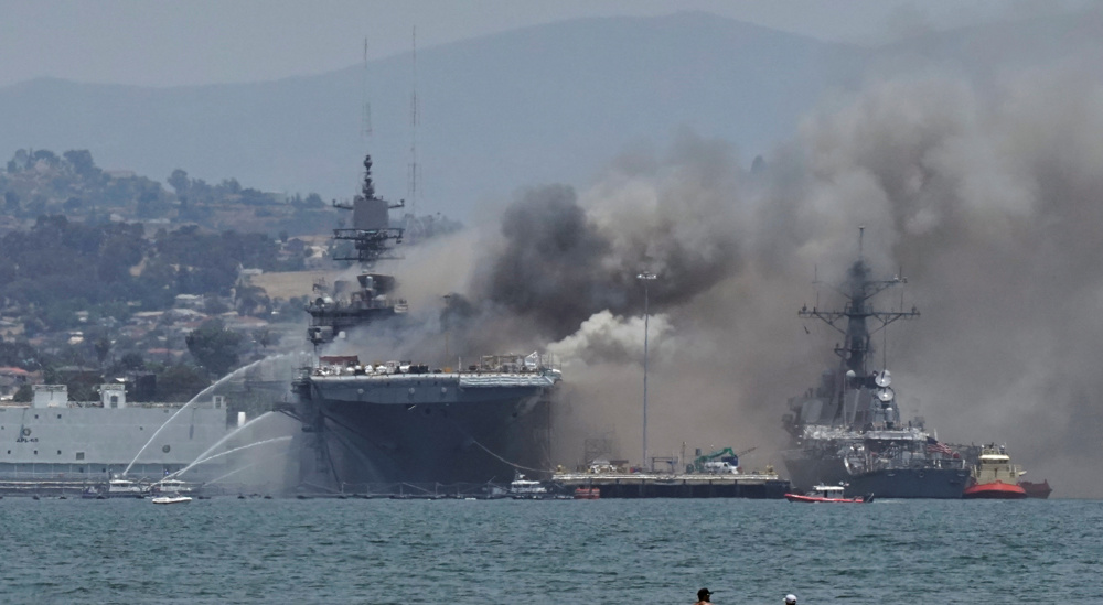 No Sympathy For The Devil? Iranian Media Speculates About Cause Of Fire On US Warship