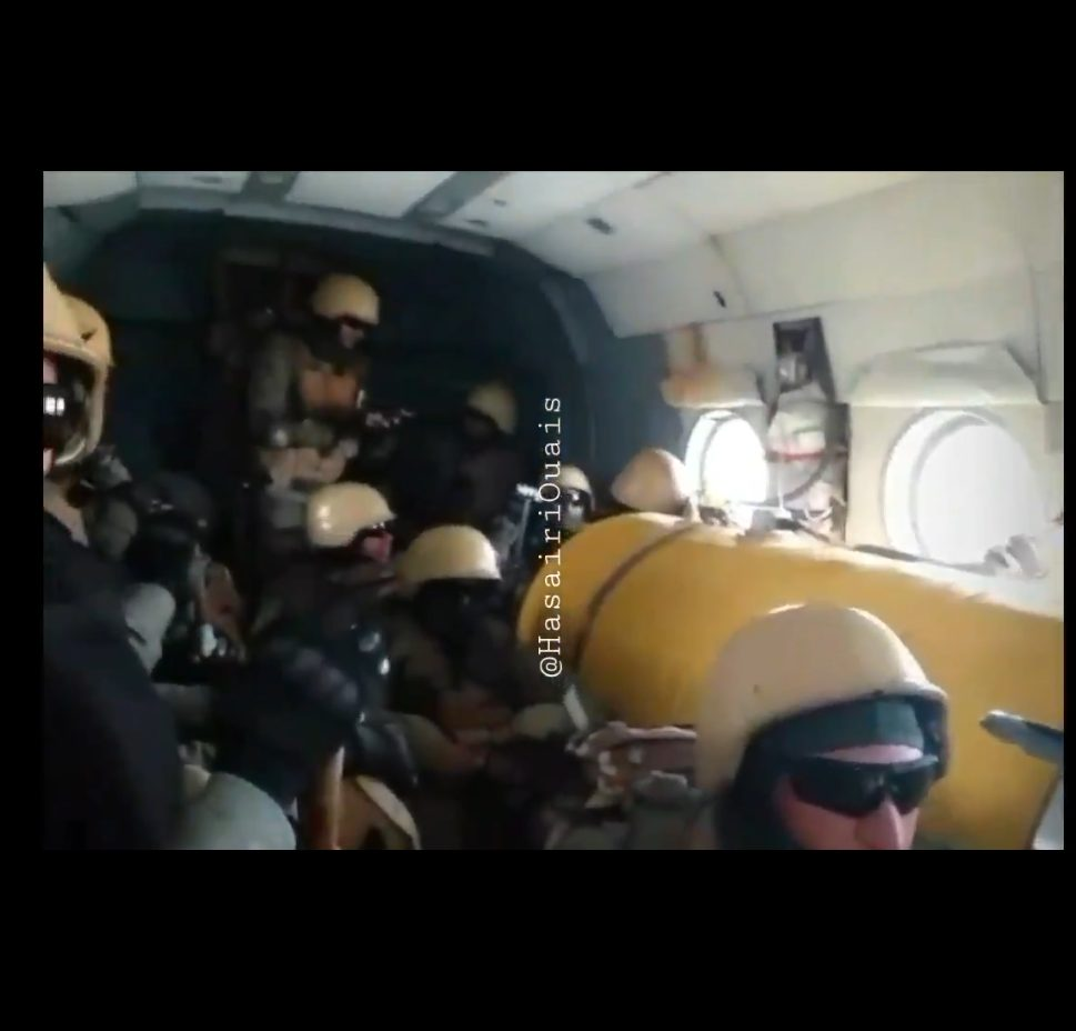 Video Shows Alleged Russian Mercenaries In Helicopter Above Benghazi Libya