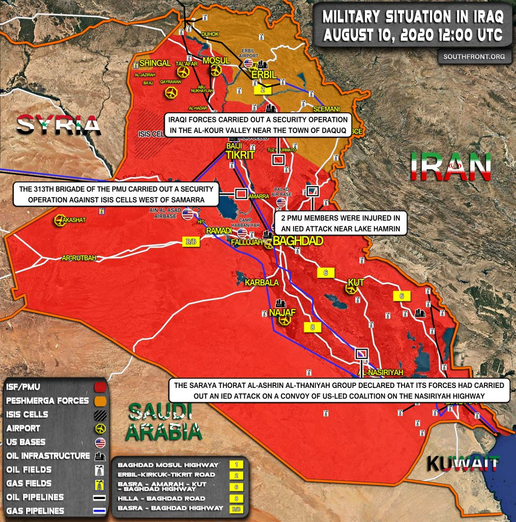 Military Situation In Iraq On August 10, 2020 (Map Update)