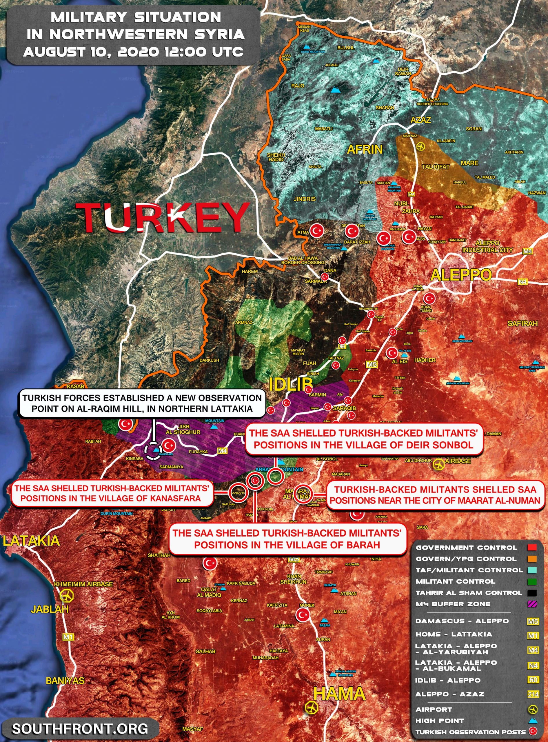 Military Situation In Northwestern Syria On August 10, 2020 (Map Update)