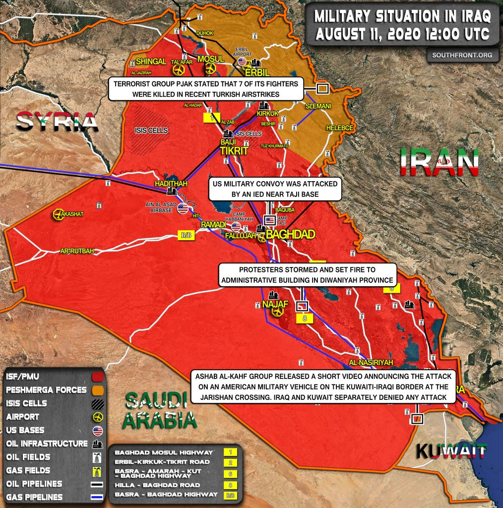 Military Situation In Iraq On August 11, 2020 (Map Update)