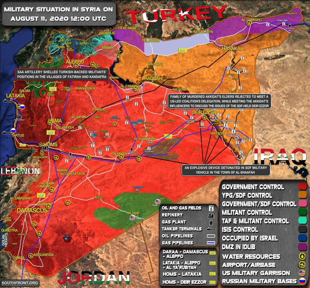 Military Situation In Syria On August 11, 2020 (Map Update)