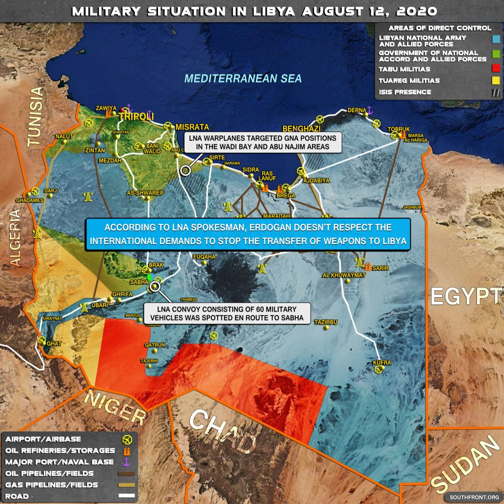 Military Situation In Libya On August 12, 2020 (Map Update)