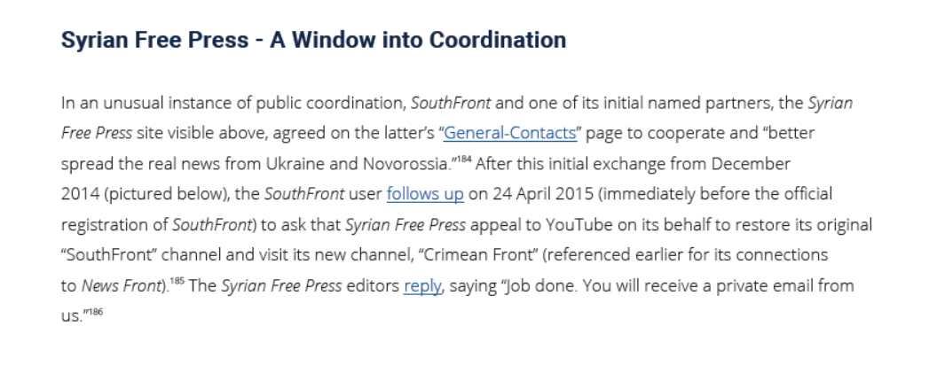 SouthFront Sends Warmest Greetings To US Department Of State