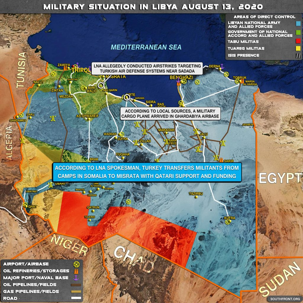 Military Situation In Libya On August 13, 2020 (Map Update)