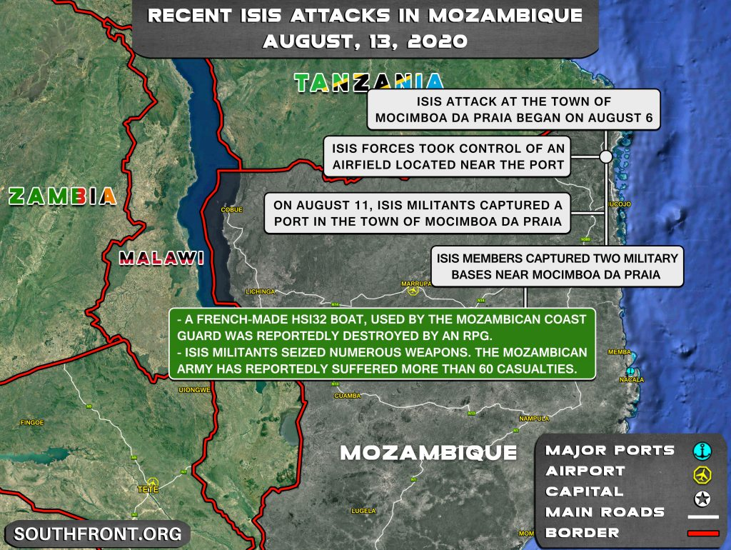 Map Update: Recent ISIS Attacks In Mozambique