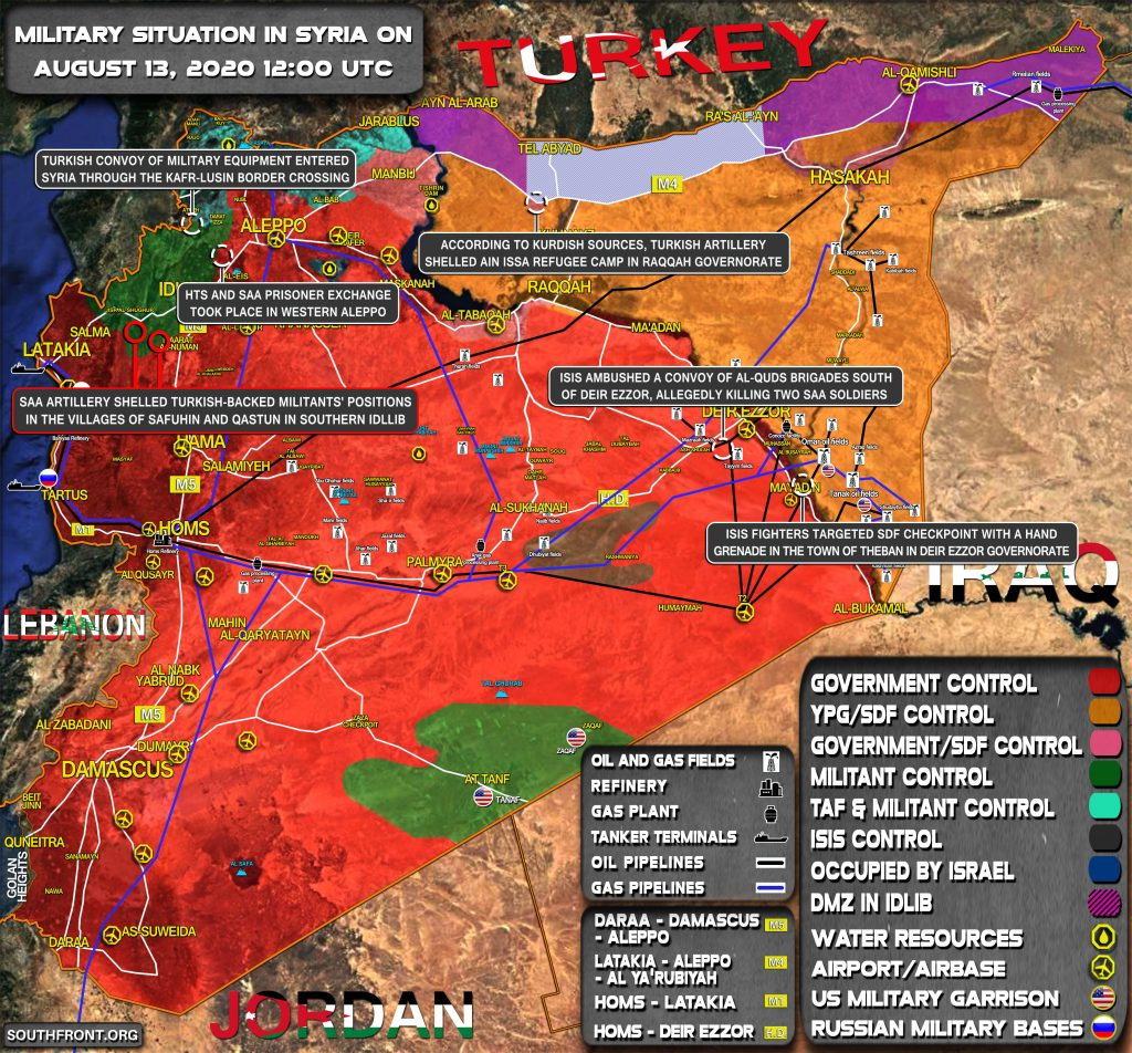 Military Situation In Syria On August 13, 2020 (Map Update)
