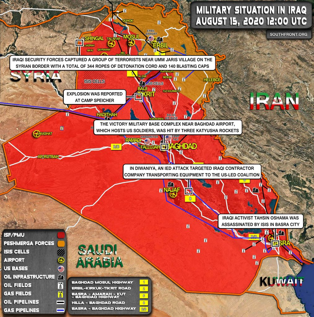 Military Situation In Iraq On August 15, 2020 (Map Update)
