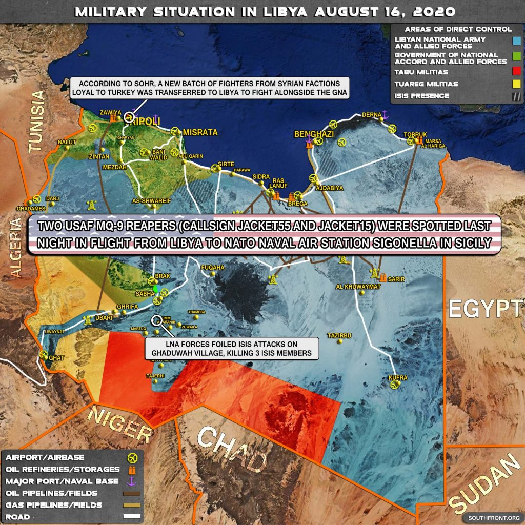 Military Situation In Libya On August 16, 2020 (Map Update)