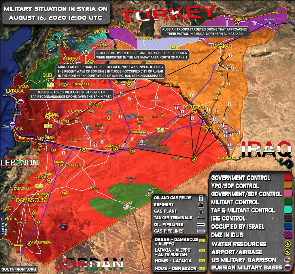Military Situation In Syria On August 16, 2020 (Map Update)