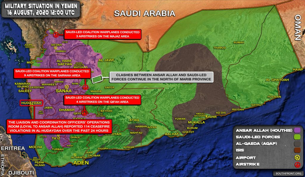 Military Situation In Yemen On August 16, 2020 (Map Update)