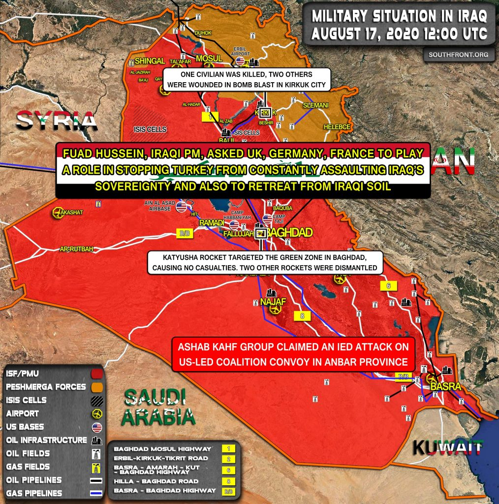 Military Situation In Iraq On August 17, 2020 (Map Update)