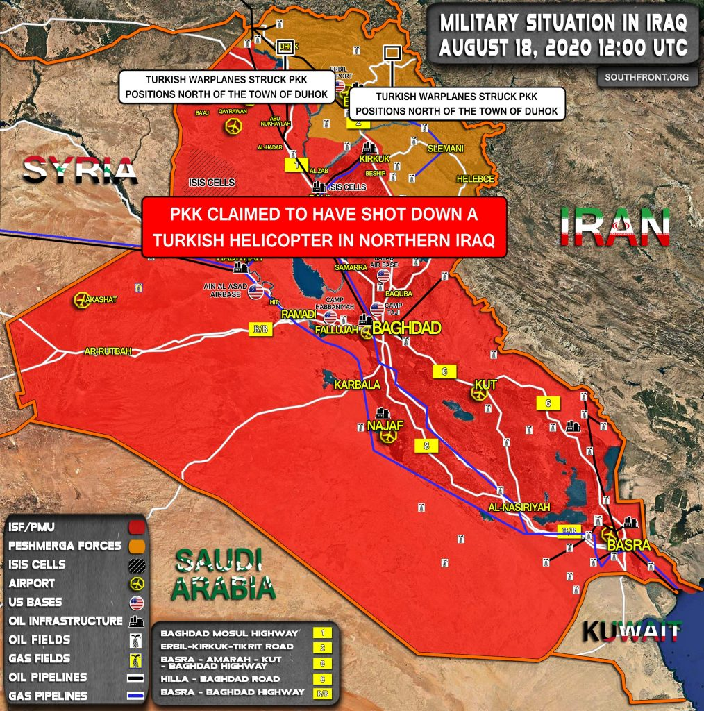Military Situation In Iraq On August 18, 2020 (Map Update)