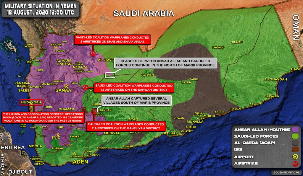 Military Situation In Yemen On August 18, 2020 (Map Update)